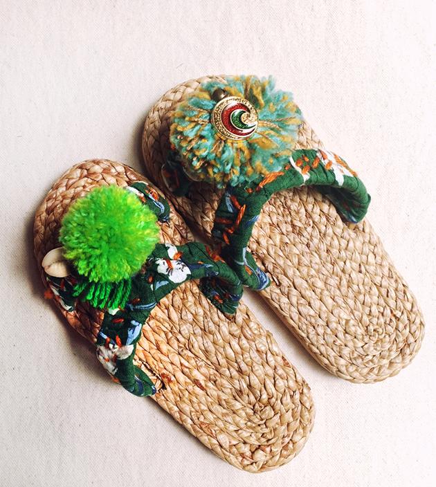 童鞋.手編水草ㄇ字.綠 1