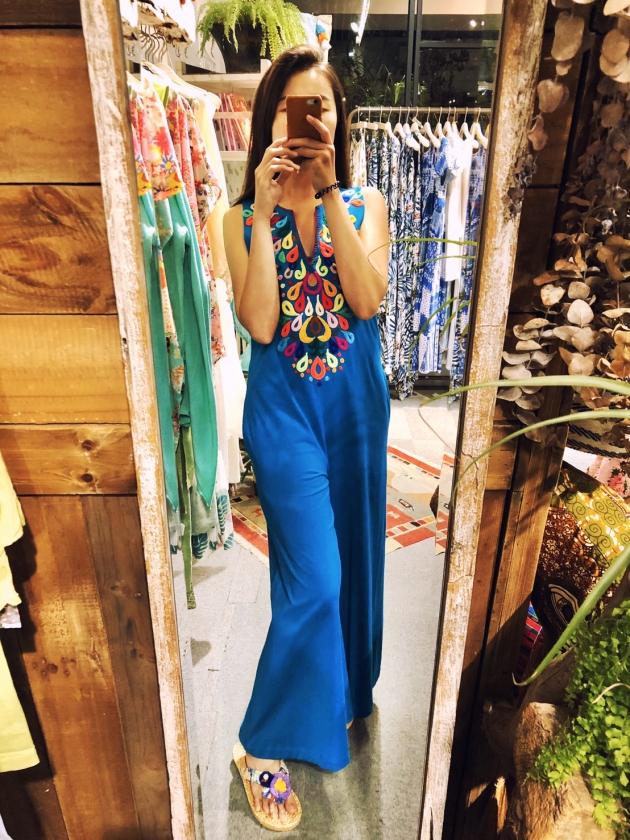 繡花連身裝.彩藍 7