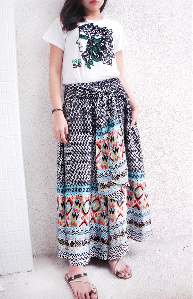鳳凰寬裙褲 2