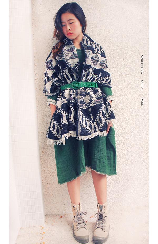 羊毛刺繡巾.喀米 3