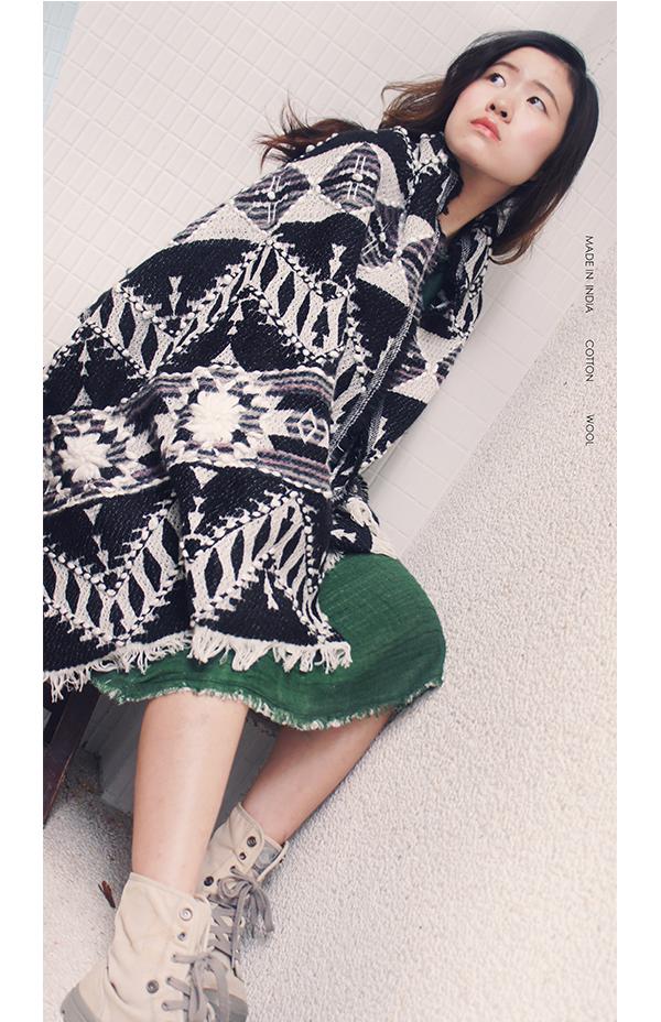 羊毛刺繡巾.喀米 2