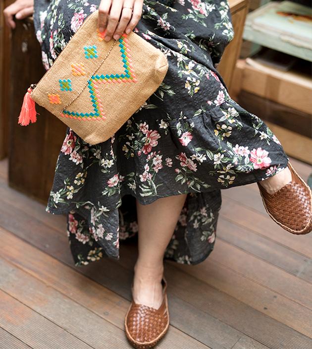 刺繡麻袋子 2