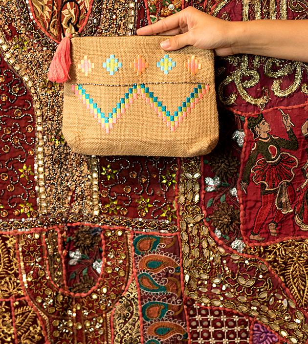 刺繡麻袋子 3