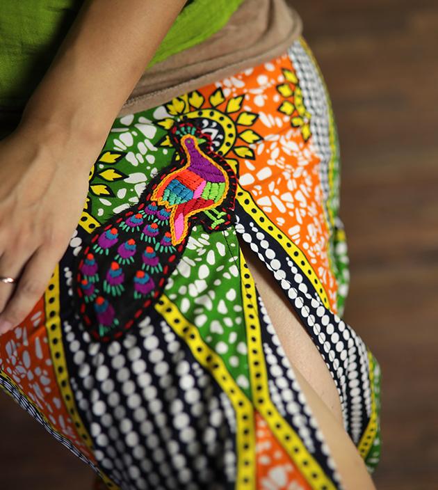 非洲開叉長裙 1