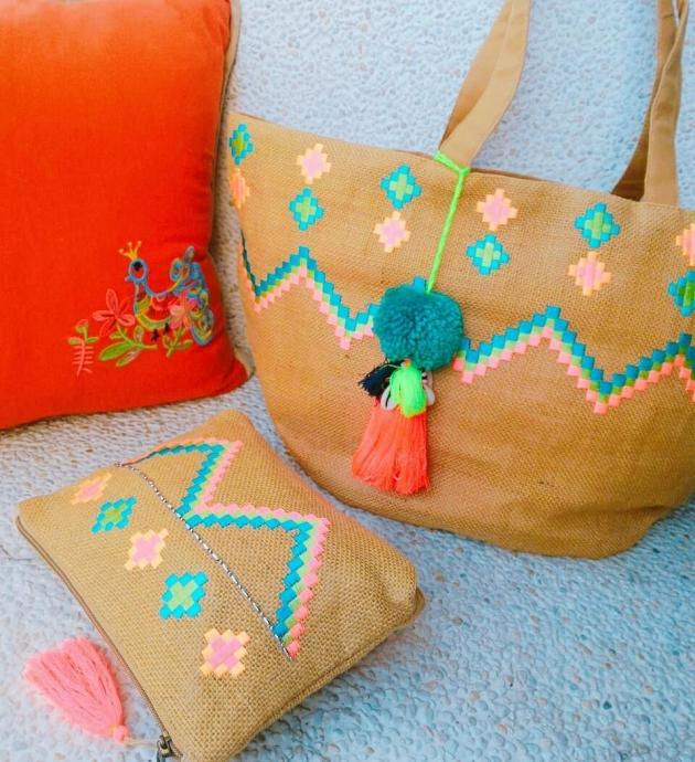 刺繡麻袋子 5