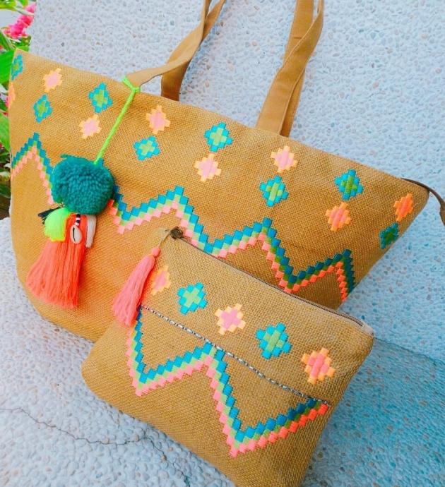 刺繡麻袋子 4
