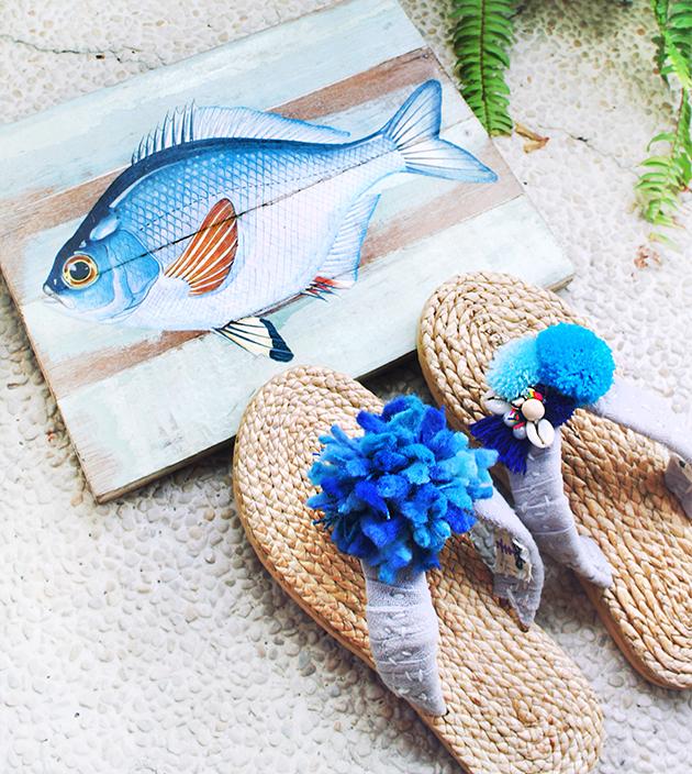 手編水草鞋.素灰 3