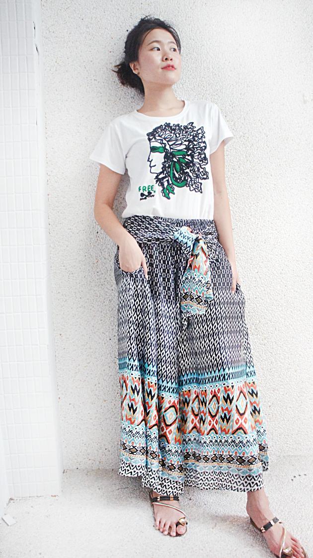 鳳凰寬裙褲 4