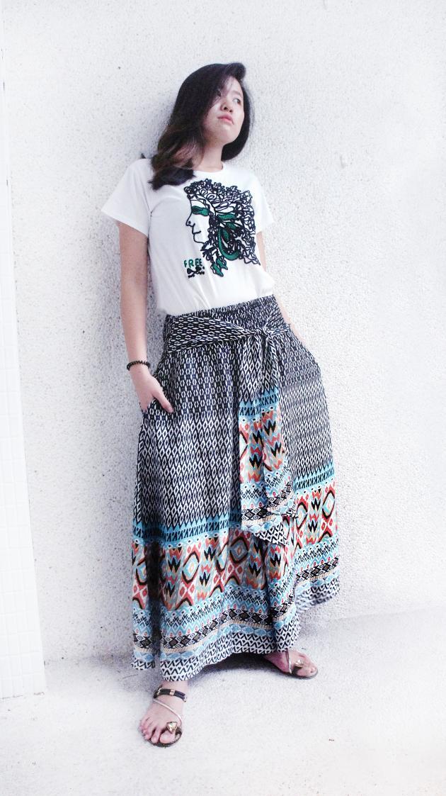 鳳凰寬裙褲 1