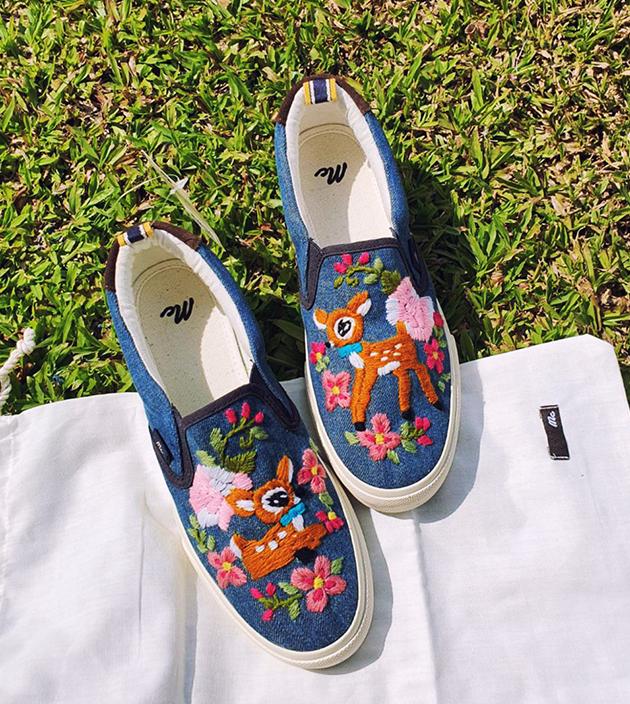 手工繡花鞋 2