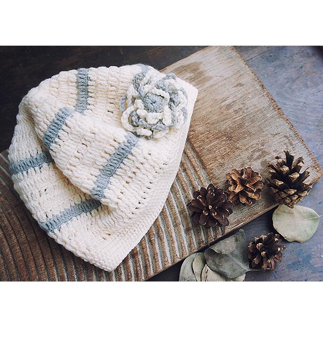 手鉤花朵帽 1