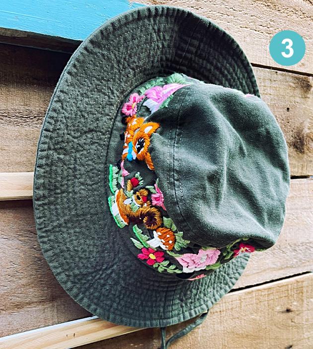 手繡漁夫帽 3