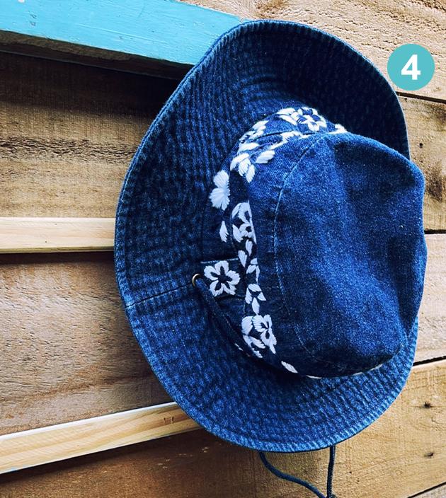 手繡漁夫帽 4