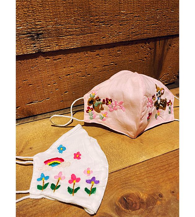 手繡棉布口罩 5