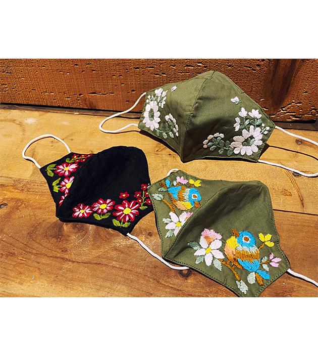 手繡棉布口罩 2