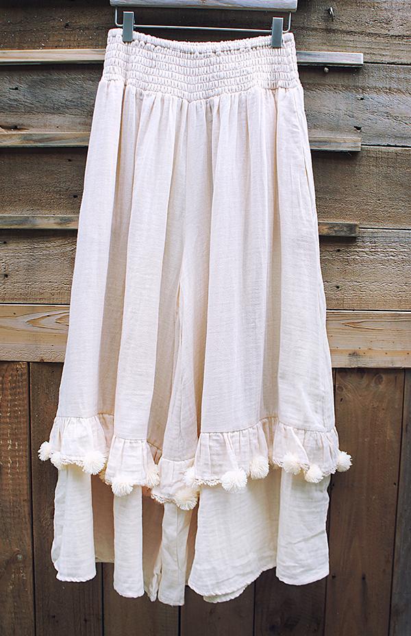 毛球大寬褲裙 1