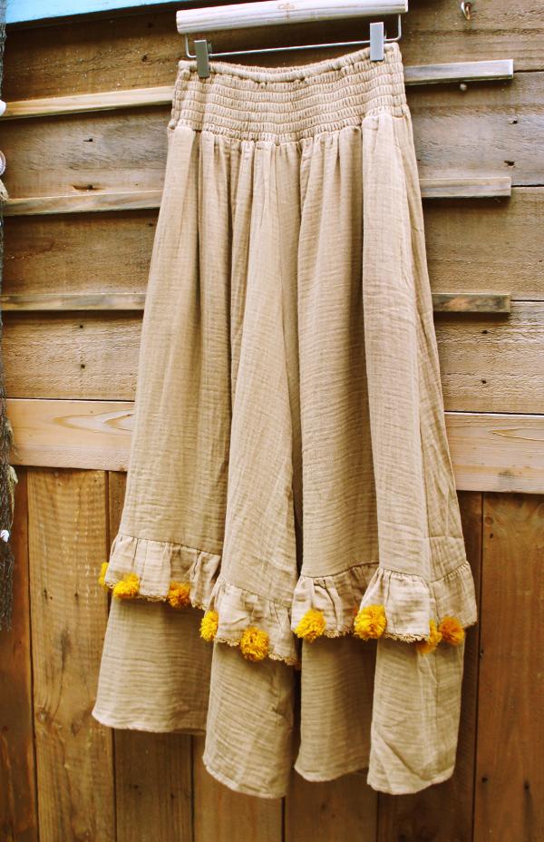 毛球大寬褲裙 3