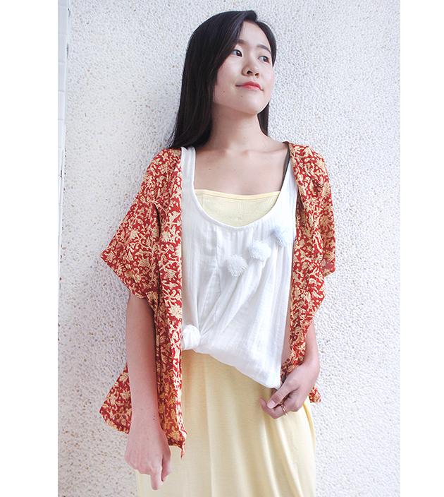 午茶棉扣外罩衫 4